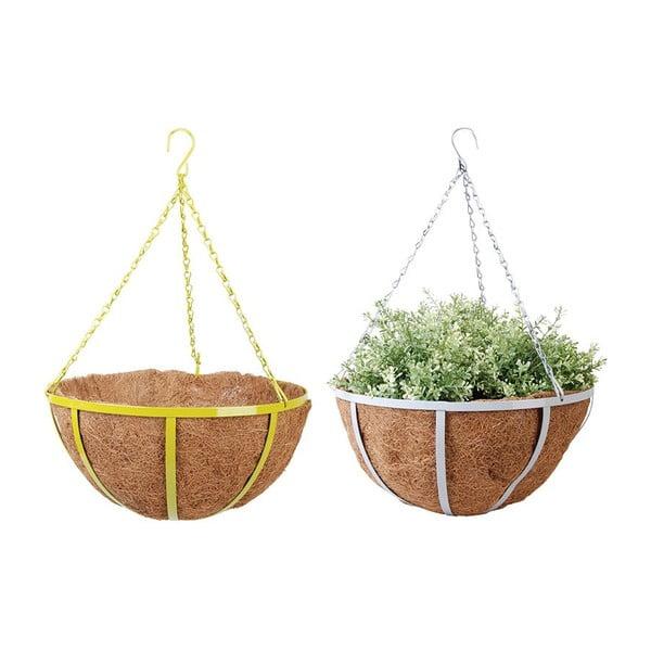 Sada 2 závesných kvetináčov z kokosových vlákien Magic, 36 cm