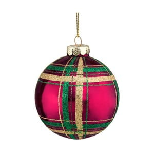 Červeno-zelená vianočná závesná ozdoba Butlers, ⌀ 8 cm