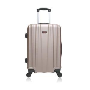 Béžový hnedý cestovný kufor na kolieskach Hero Journey, 36l