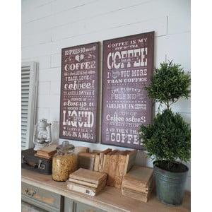 Nástenná dekorácia Coffee Addict, 2 ks