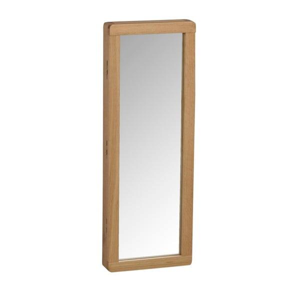 Prírodná dubová zrkadlová skrinka na kľúče Rowico Gorgona