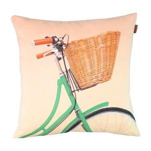 Obliečka na vankúš Vintage Green Bike, 45x45 cm