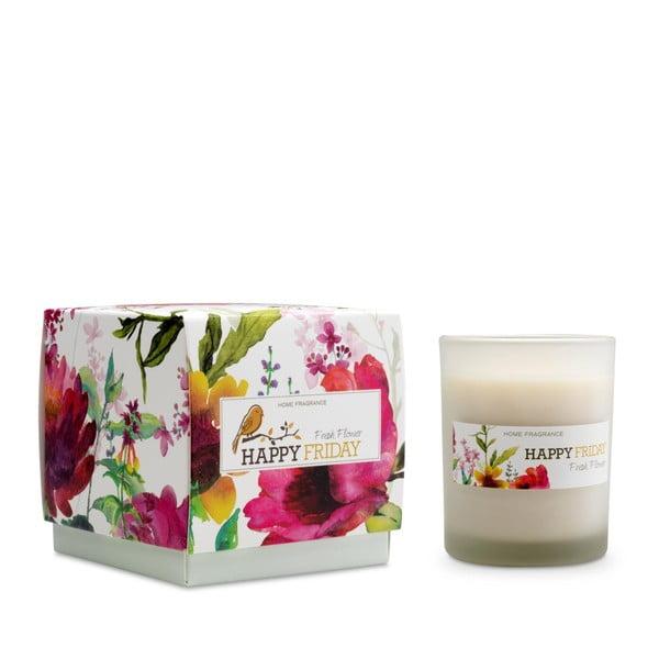 Vonná sviečka s vôňou čerstvých kvetov HF Living, doba horenia 40 hodín