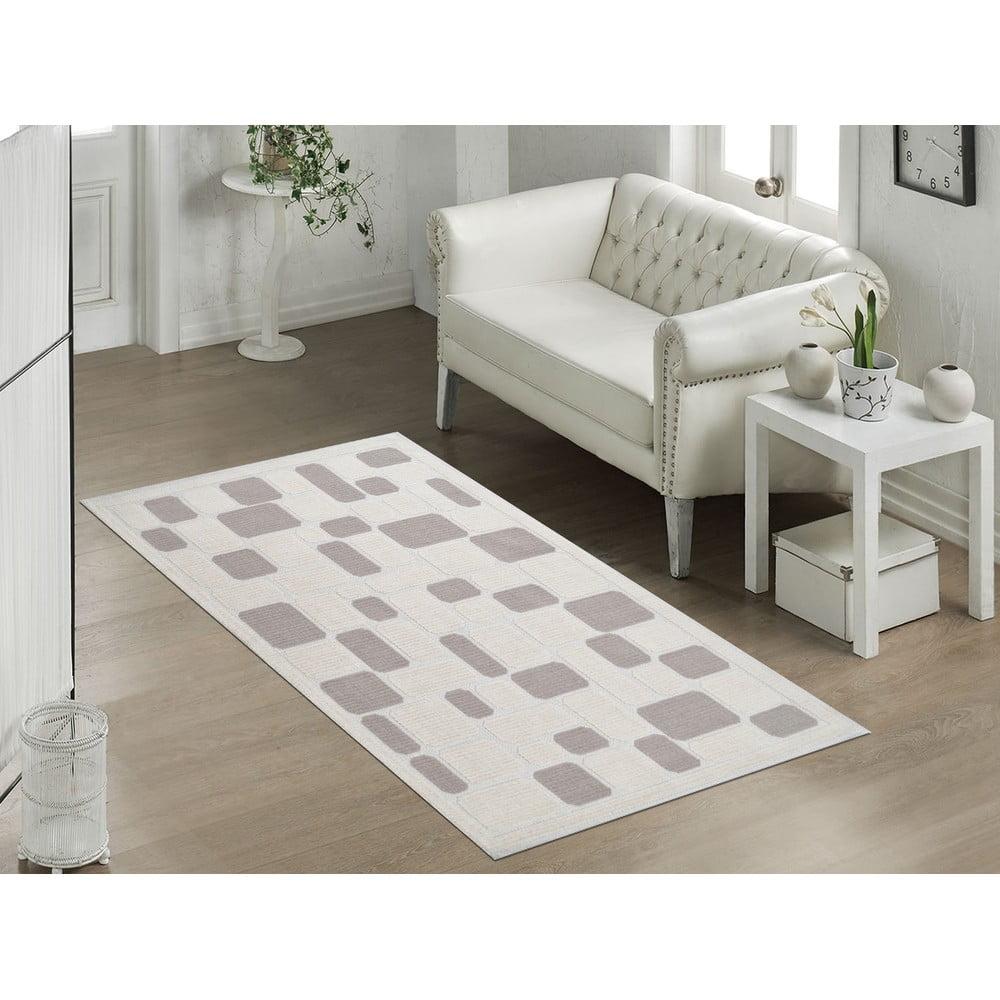 Odolný bavlnený koberec Vitaus Mozaik Bej, 120 × 180 cm