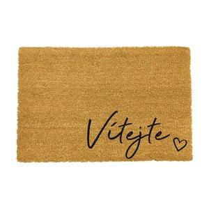 Rohožka z prírodného kokosového vlákna ARTS Doormats Vitajte, 40 x 60 cm