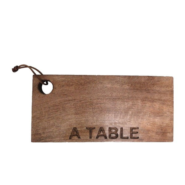 Drevená doska na krájanie A Table