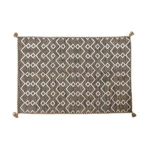 Hnedý ručne tkaný koberec Kilim Elegant 52, 110 x 60 cm