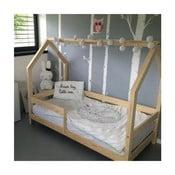 Detská posteľ s vyvýšenými nohami a bočnicami Benlemi Tery, 80x160cm, výška nôh 20cm