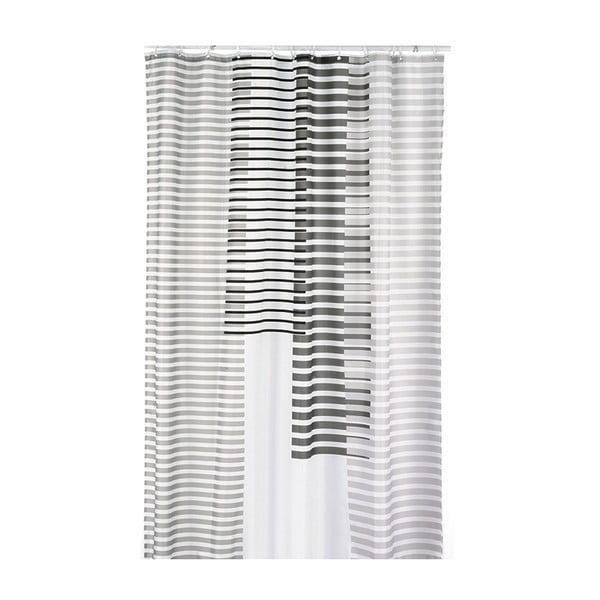 Sprchový záves Lamara, svetlo sivý, 180x200 cm