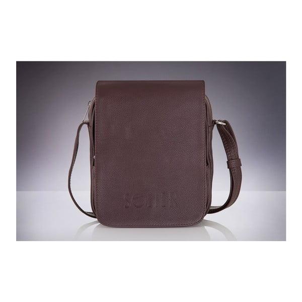 Pánska kožená taška Solier SL32, hnedá