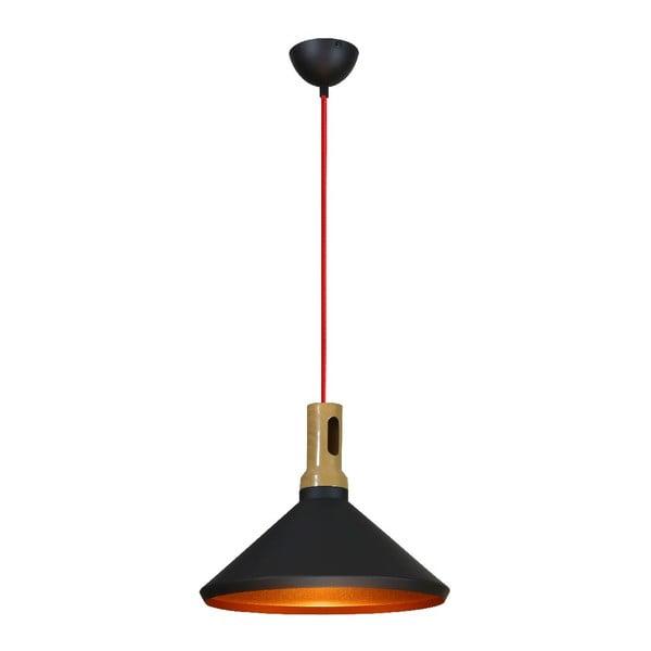Závesné svetlo Robinson II, čierne