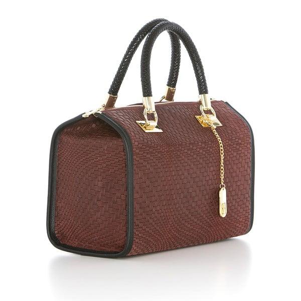 Čokoládovo hnedá kožená kabelka Federica Bassi Eos