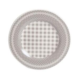 Dezertný tanier Grey Dots&Checks, 20.5 cm
