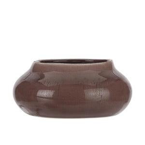 Hnedý kameninový kvetináč A Simple Mess Beate, ⌀ 17,5 cm