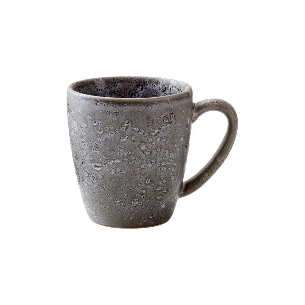 Sivý kameninový hrnček s uškom Bitz Basics Grey, 190 ml
