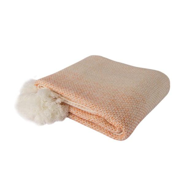 Oranžovo-biela deka Tete