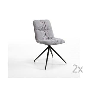 Sivá stolička Design Twist Galena
