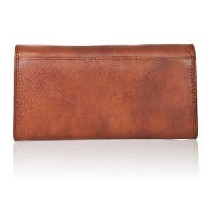 Hnedá dámska peňaženka z teľacej kože Medici of Florence Shiny