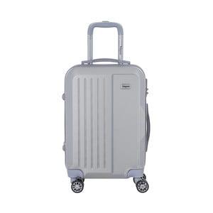 Cestovný kufor na kolieskách v striebornej farbe s kódovým zámkom SINEQUANONE Iskra, 44 l