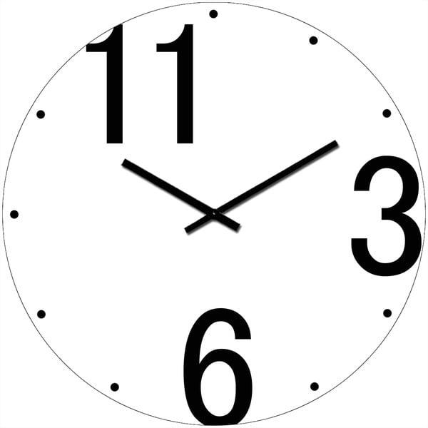 Sklenené hodiny Tri, šesť, jedenásť, 34 cm