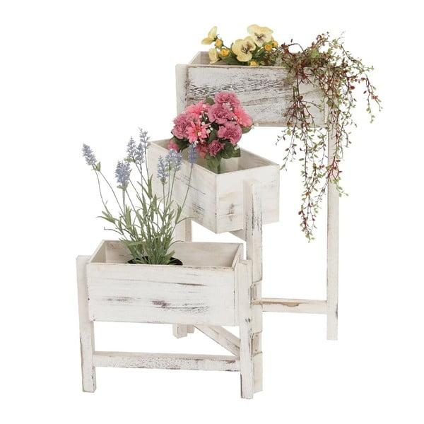 Biely stojan na kvety Mendler Shabby Chic