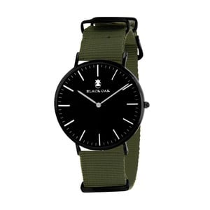 Tmavé zeleno-čierne pánske hodinky Black Oak Armo