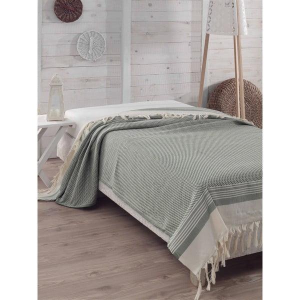 Prikrývka na posteľ Hasir Green, 200x240 cm