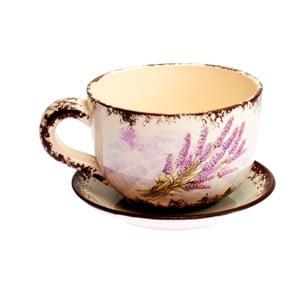 Hrnček s tanierikom Lavender