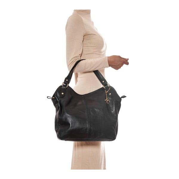 Kožená kabelka Renata Corsi 2114 Nero