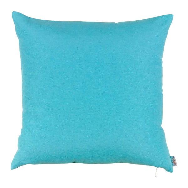 Tyrkysovomodrá obliečka na vankúš Apolena Simply Blue, 41 x 41 cm
