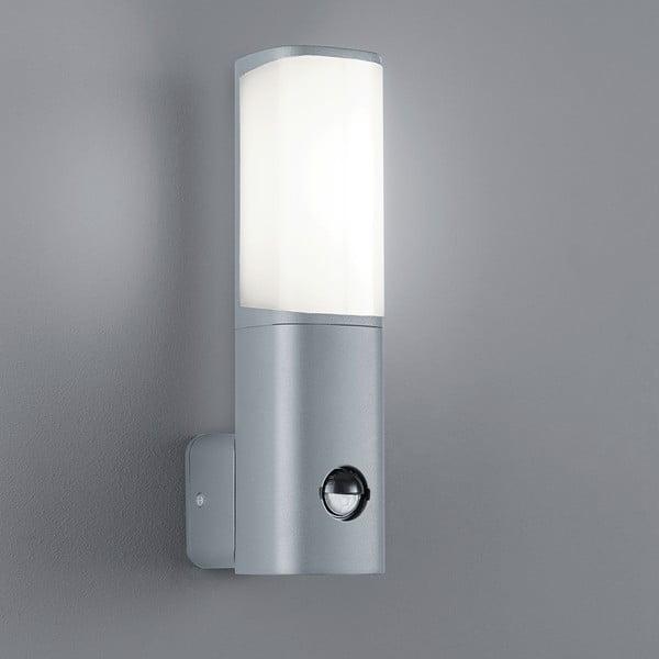 Záhradné nástenné svetlo s pohybovým čidlom Ticino Titanium, 27 cm