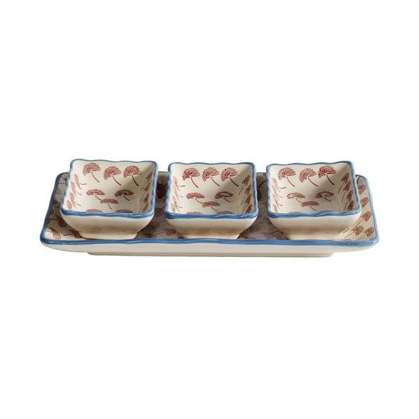 Servírovacie misky s podnosom Blossom Dandelion