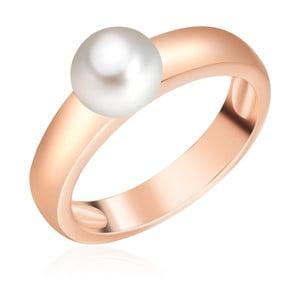 Perlový prsteň Maria, rosogold s bielou perlou, veľ. 52