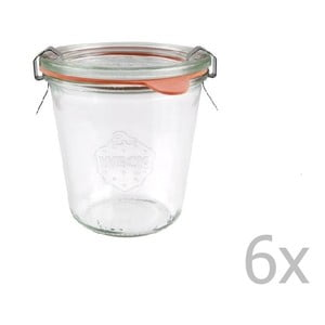 Sada 6 zaváracích pohárov Weck Sturz High, 290 ml
