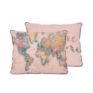 Vankúš Really Nice Things Pillow Map, 50x35 cm