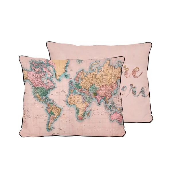 Vankúš Really Nice Things Pillow Map, 50x35 cm