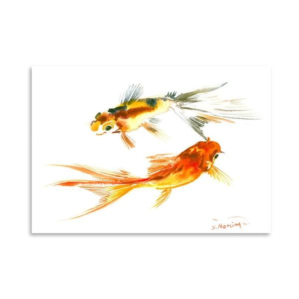 Plagát Goldfish Koi