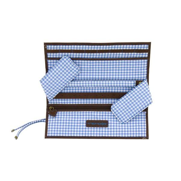 Šperkovnica Roll Bavaria Brown/Blue, 27x9,5x3 cm
