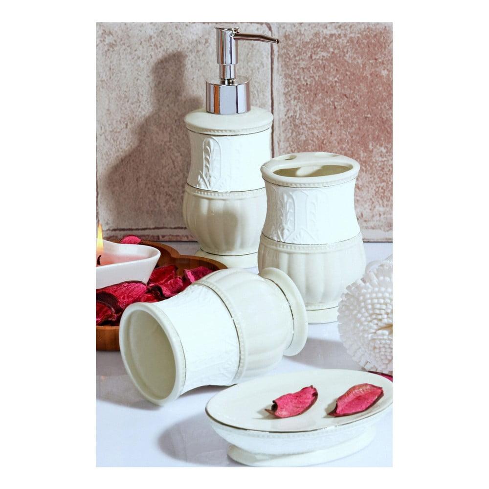 Biely kúpeľňový set z keramiky