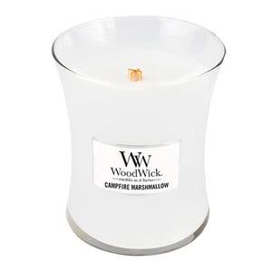 Sviečka s vôňou marshmallows Woodwick Penové cukríky na ohni, doba horenia 60 hodín