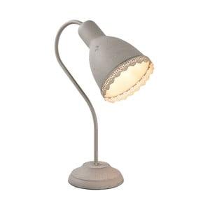 Sivá stolová lampa Clayre & Eef, výška 38 cm