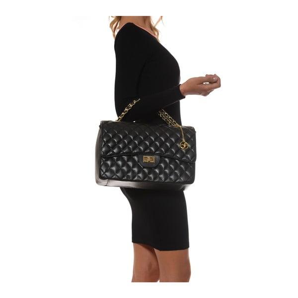 Čierna kožená kabelka Isabella Rhea Julietta
