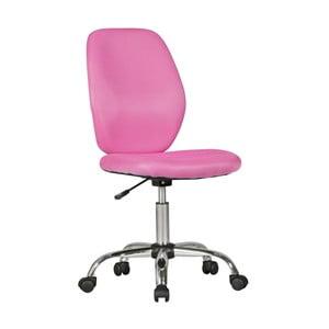 Ružová detská stolička na kolieskach Skyport Amstyle Emma