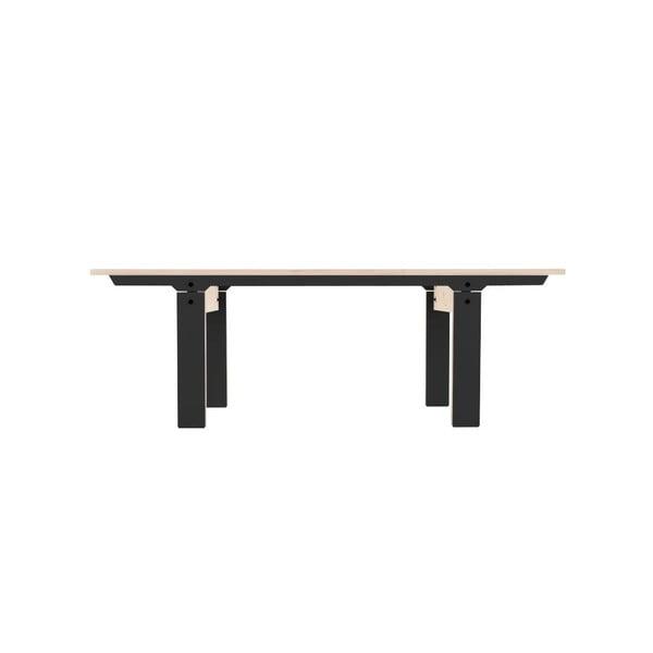 Čierna lavica na sedenie rform Slim 04, dĺžka 133 cm