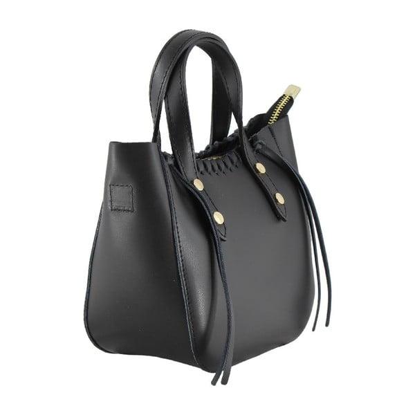 Kožená kabelka Genissa, čierna