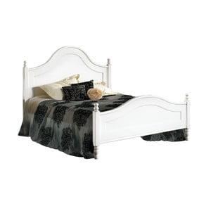 Biela drevená dvojlôžková posteľ Castagnetti Venezia, 160x200cm
