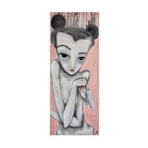 Autorský plagát od Lény Brauner Holubička, 26x60 cm