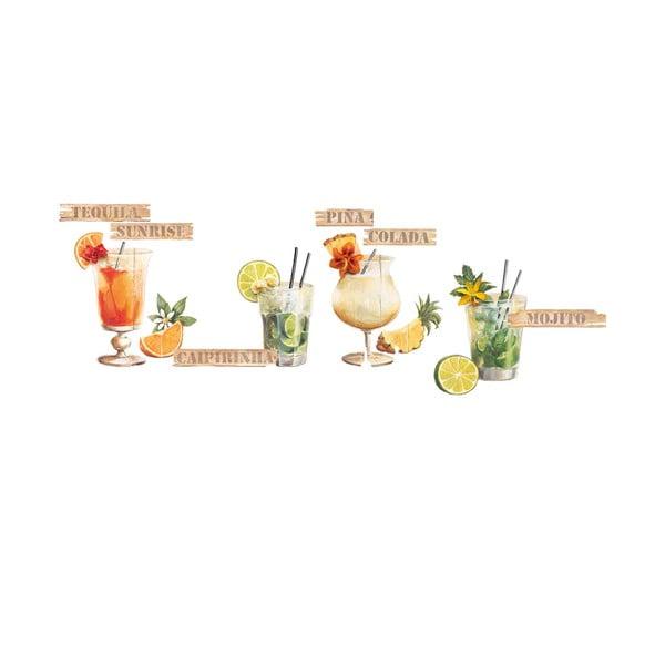 Dekoratívna samolepka Koktejly