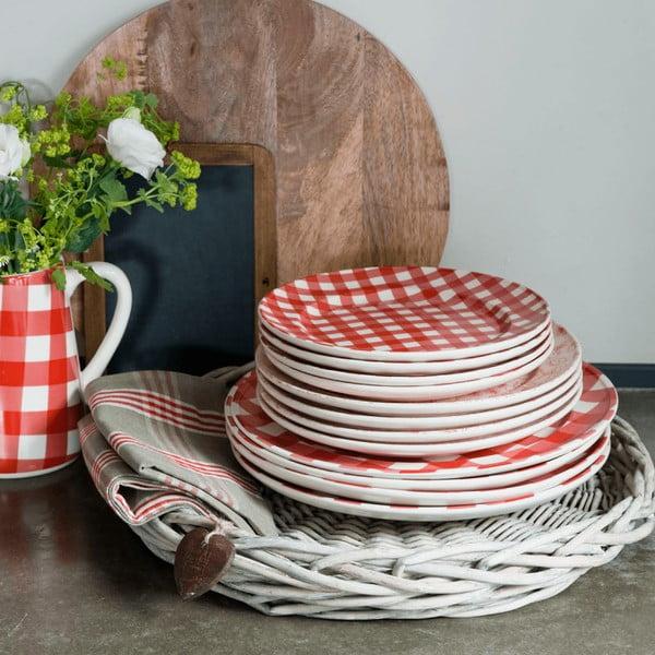 Servírovací tanier Anne, červený