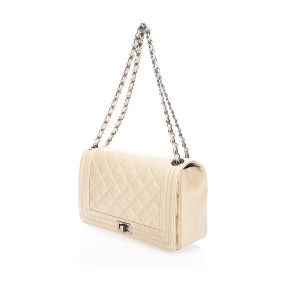 Kožená kabelka Silviana, béžová